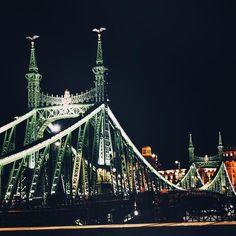 #libertybridge #budapest #greenbridge #hungary #architecture #night #nightlife #structure #steel #city #urban #instagood #instatravel #architecturephotography #light #nightlight #travel #canon #vscocam #scenery by rabebtaga