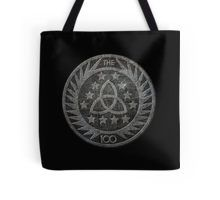 'Insignia' Tote Bag inspired by the post-apocalyptic drama #The100. It depicts the logo seen on the TV show on pins worn by the Council and on the patches worn by the Guards.