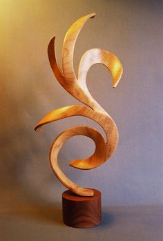 CYGNUS Hand Carved Wood Sculpture