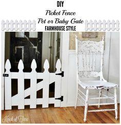 DIY Picket Fence Pet Gate - KnickofTime.net