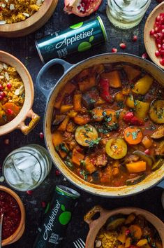 Vegetable tagine with almond and chickpea couscous – an easy, healthy, filling vegetarian/vegan meal with tonnes of flavour. Going Vegetarian, Vegetarian Dinners, Vegetarian Cooking, Vegetarian Recipes, Cooking Recipes, Healthy Recipes, Vegan Food, Vegetarian Tagine, Vegan Menu