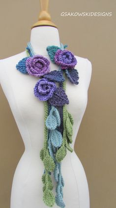 Isabella Lariat Lavender by gsakowskidesigns on Etsy
