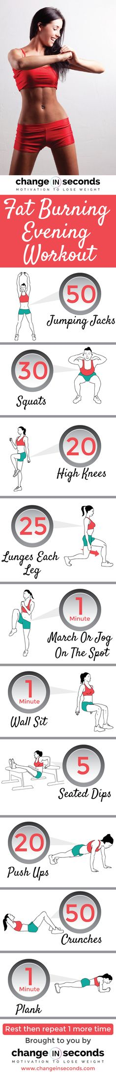 Fat Burning Evening Workout…