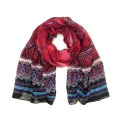 Scarf with geometric pattern. #scarf #geometric Szaleo.pl   Be new fashioned & accessorized!
