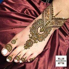 Mehndi Designs Feet, Mehndi Design Pictures, Wedding Mehndi Designs, Henna Designs Easy, Wedding Henna, Beautiful Henna Designs, Beautiful Mehndi, Beautiful Body, Simple Designs