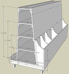 Ideas Woodworking Shop Storage Ideas Lumber Rack For 2019 Lumber Storage Rack, Lumber Rack, Ikea Storage, Fabric Storage, Tool Storage, Craft Storage, Storage Cart, Garage Storage, Wood Rack