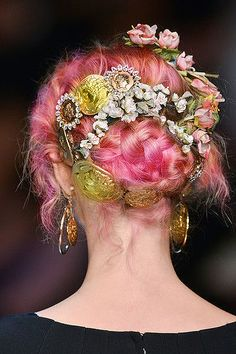 Dolce Gabbana SS2014 #pastel #pink