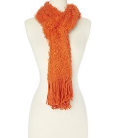 Another great find on #zulily! Orange Fuzzy Fringe Scarf #zulilyfinds