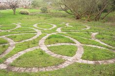 Celtic knot garden - I love the idea of doing something like this, with herbs planted in the different sections.