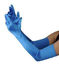Fabuleux gants en satin de gala. Parfaits pour les grandes occasions. 16BL 21216BL: Amazon.fr: Vêtements et accessoires