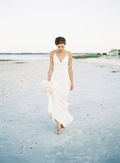 #Brides dress by http://www.nicolemiller.com/bridal,  Photography by landonjacob.com  Read more - http://www.stylemepretty.com/2013/08/13/haig-point-wedding-from-landon-jacob/