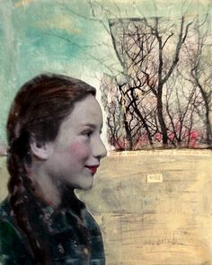 Wild  girl and forest vintage style painting by MaudstarrArt