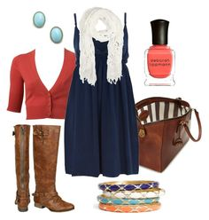 """""""coral & blue"""" by htotheb ❤ liked on Polyvore featuring Kate Spade, Witchery, Dorothy Perkins, Sequin, Deborah Lippmann, Ermanno Scervino, coral, teal and blue"""