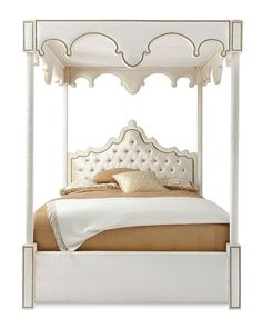 William Queen Canopy Bed by Haute House at Neiman Marcus.