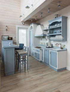 голубая кухня кантри