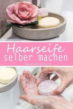 Make Hair Soap - The 5 Minute DIY Shampoo Bar- Haarseife selber machen – Der 5 Minuten DIY Shampoo Bar With this DIY guide, you can make hair soap yourself. The homemade hair soap is a great home remedy for dandruff. Diy Shampoo, Pot Mason Diy, Mason Jar Crafts, E Cosmetics, Home Remedies For Dandruff, Diy Beauté, Wine Bottle Crafts, How To Make Hair, Diy Projects To Try