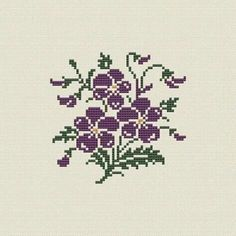 This Pin was discovered by Cey Cross Stitch Pillow, Cross Stitch Heart, Beaded Cross Stitch, Cross Stitch Flowers, Counted Cross Stitch Patterns, Cross Stitch Designs, Cross Stitch Embroidery, Embroidery Patterns, Retro Flowers