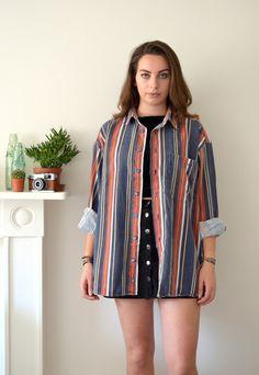 90s Vintage Striped Festival Flannel Shirt | Ica Vintage | ASOS Marketplace