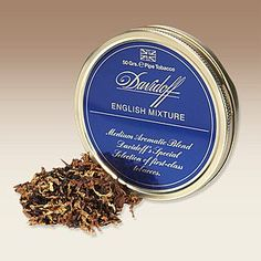 Davidoff English Mixture pipe tobacco is a classic English blend. Utilizing Virginia, Burley, Latakia, and Perique tobaccos, this mild blend is rich in tobacco flavors and backed by a touch of spice.​