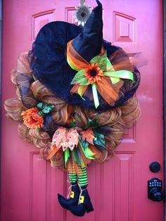 Fall and Halloween wreath.