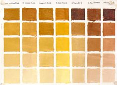 Color Combination Chart   The greens above are all manufactured from a combination of yellow and ...