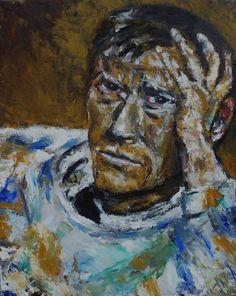 "Portrait of Otto Dix, Oil on Canvas 20x16"", © Copyright 2011 Alan Derwin"