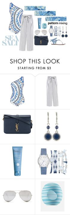 """""""Sea salt"""" by selinakylex ❤ liked on Polyvore featuring Clover Canyon, Yves Saint Laurent, Nine West, Thalgo, A.X.N.Y., Sunny Rebel and Eos"""