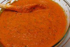 Homemade enchilada sauce. Read the ingredients on canned sauce, it is loaded with crap like corn syrup and soy.