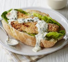 Try this gourmet take on a classic with homemade salmon fish fingers, finished with a good dollop of tangy tartar sauce #seafood