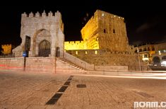 Entrance to the Tower of David Museum, today.  The Tower of David Museum was opened in 1989 and contains archaeological ruins dating back some 2,700 years