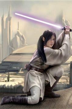 Allana Solo, daughter of Tenel Ka and Jacen Solo (granddaughter of Leia Organa Solo and Han Solo)