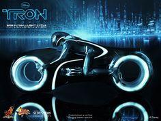 Sam Flynn w/ Light cycle - Disney