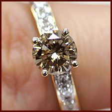 I love this brown diamond ring!