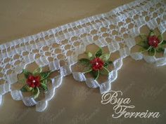 Visit the site for details. Crochet Lace Edging, Crochet Borders, Crochet Trim, Crochet Doilies, Crochet Flowers, Crochet Stitches, Knit Crochet, Tatting Patterns, Embroidery Patterns