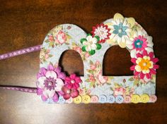 Wooden letter decorated with fabric, flowers & buttons :) First try but turned out cute ;)