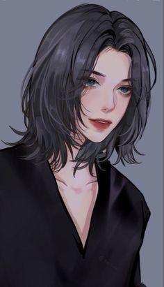Anime Girl Short Hair, Dark Anime Girl, Manga Anime Girl, Cool Anime Girl, Anime Oc, Beautiful Anime Girl, Anime Purple Hair, Anime Girl Brown Hair, Pretty Anime Girl