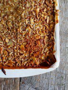 Toscakake i langpanne (med en vri) - Mat På Bordet Lasagna, Spicy, Ethnic Recipes, Food, Meal, Essen, Hoods, Meals, Eten