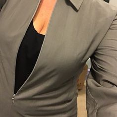 🍌Banana Republic shirt🍌 💚Stylish and smart Khaki green women's shirt. Wool mix fabric, has some stretch to it, 3/4 zip front . As new 💚 Banana Republic Tops Blouses