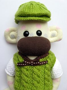 William Mars Sock Monkey by maribelmade, via Flickr