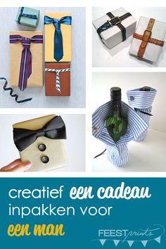 creatief een cadeau inpakken voor een man