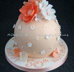 "'HELEN'  5"" diameter cake sphere (TOP TIER BAUBLE CAKE) serves approx 10 (4990)"