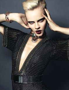 The Look: Medieval - Ginta Lapina photographed by Santiago & Mauricio for Numero November 2012.