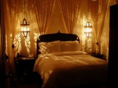 Love how the chandeliers create ambiance & are in the center of curtains                                                                                                                                                                                 More