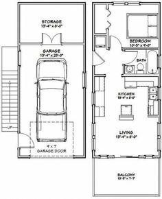 PDF house plans, garage plans, shed plans. Garage Apartment Plans, Garage House Plans, Garage Apartments, Small Apartment Plans, Tiny House Layout, Tiny House Design, House Layouts, Small House Floor Plans, Cabin Floor Plans