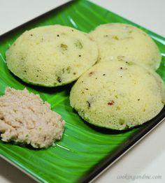 Steamed Spicy Cream of Wheat (Rava Idlis)