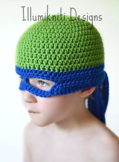 Tortue Ninja Hat Crochet Fun sur mesure par illumiknitiDesign