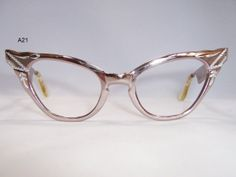Vintage Glasses, Frames, Spectacles and Retro Eyewear Funky Glasses, Cool Glasses, Glasses Frames, Fashion Eye Glasses, Cat Eye Glasses, Eyeglasses, Atomic Age, Eyewear, Eye Frames