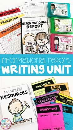 This informational report writing unit includes everything you need to teach, practice and assess expository writing! It has lesson plans, anchor char Homeschooling Statistics, Writing Curriculum, Homeschool Books, How To Start Homeschooling, Homeschool Kindergarten, Teaching Writing, Writing Activities, Online Homeschooling, Catholic Homeschooling