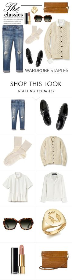"""""""The Classics"""" by barngirl ❤ liked on Polyvore featuring Gap, Dear Frances, Black, L.L.Bean, Lacoste, Brandon Maxwell, TOMS, Iconery Basics, Chanel and Aspinal of London"""