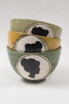 Silhouette Bowls   Not Regency-but Regency Style DIY inspiring